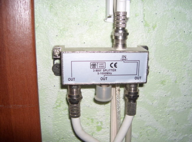 Glockensatellitenempfänger angeschlossen